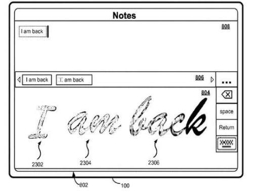 手写输入中文不好用?苹果特意申请了个专利解决难题